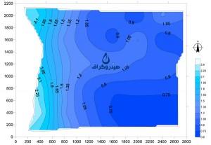 نقشه هم عمق آب زیرزمینی
